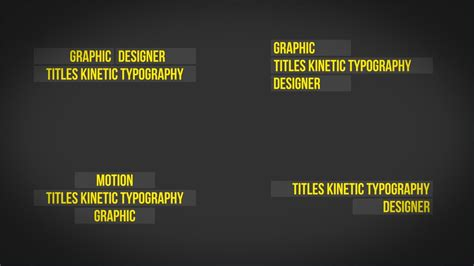 Titles Kinetic Typography After Effect Template Youtube Free Kinetic Typography Generator