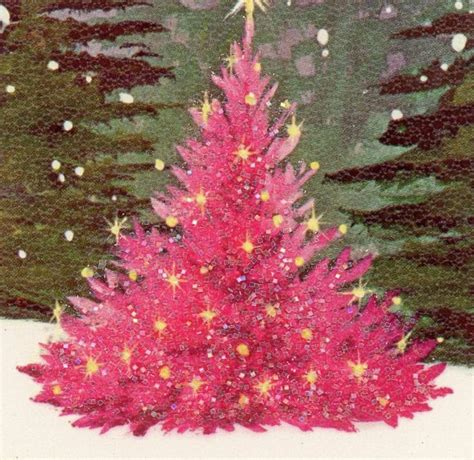pink retro christmas tree christmas pinterest