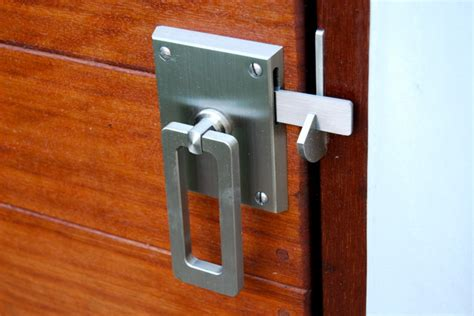 elise stainless steel contemporary gate latch
