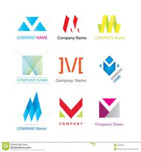 letter m modern logotype company signs stock photography