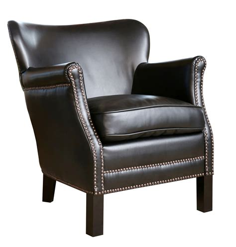 nailhead armchair abbyson living sienna leather nailhead trim petite