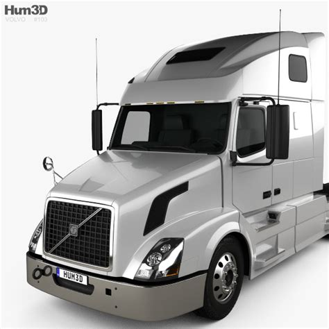 volvo truck 2011 models volvo vnl 670 tractor truck 2011 3d model hum3d
