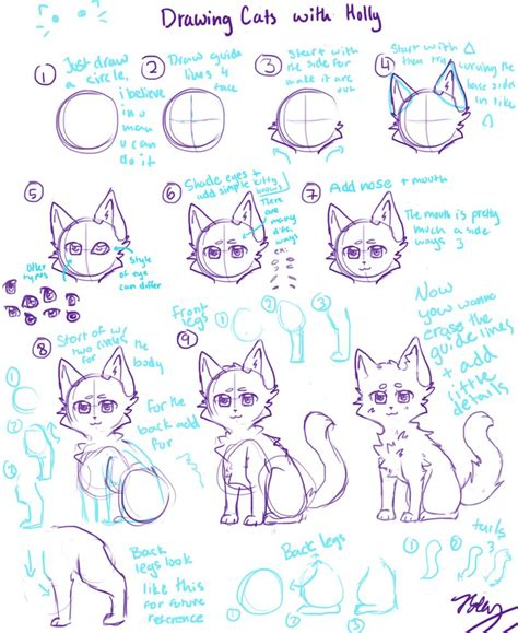 cat tutorial cat tutorial anime style by dachibiii on deviantart