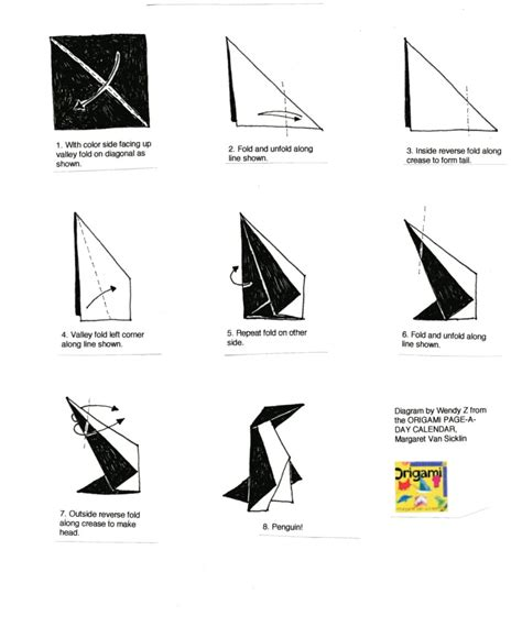 Dollar Bill Origami Penguin - free coloring pages how to make an origami penguin dollar