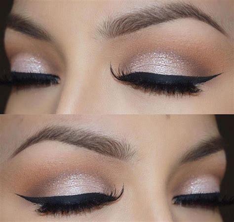 Eyeshadow Soft soft cut crease black winged eyeliner glam neutral