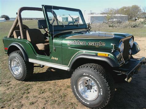 jeep golden eagle for sale 1978 cj5 golden eagle 6 cyl 3 speed 60000 original miles