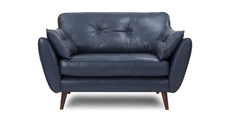 Zinc Leather Cuddler Sofa Dfs Dfs Sofas Leather