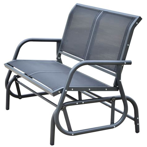 outsunny new patio double seat glider bench rocker porch