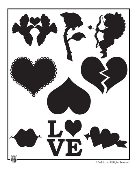 valentines stencils templates and templates