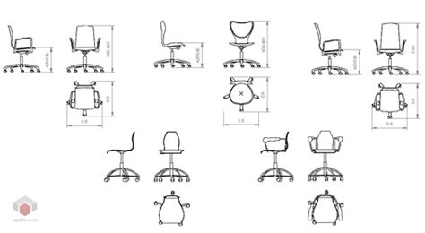 sedia ufficio dwg office chairs 2d office chairs drawings