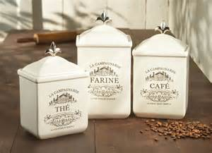 Decorative kitchen canisters and jars an important design part of