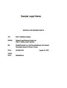 Sample memo template create edit fill and print legal memo template