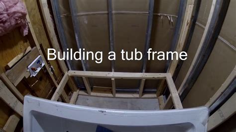 framing for a bathtub how to build a tub frame youtube