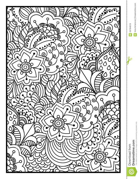 black  white background  coloring book stock vector