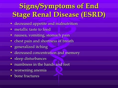 failure symptoms end stage chronic kidney disease what you need to