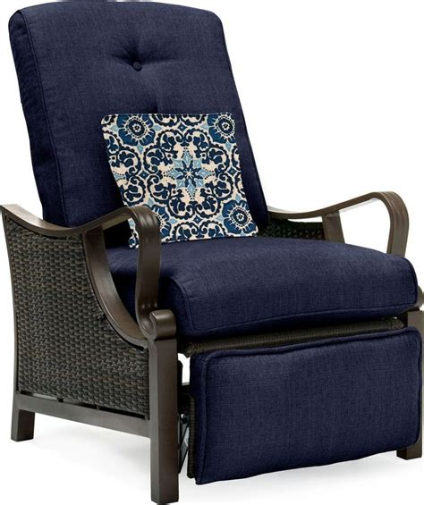 Luxury Recliner Chairs by Hanover Ventura Luxury Resin Wicker Outdoor Recliner Chair