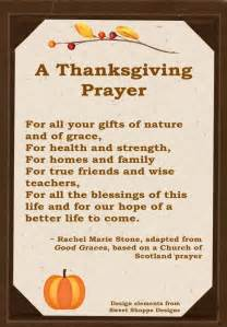a thanksgiving prayer wholistic