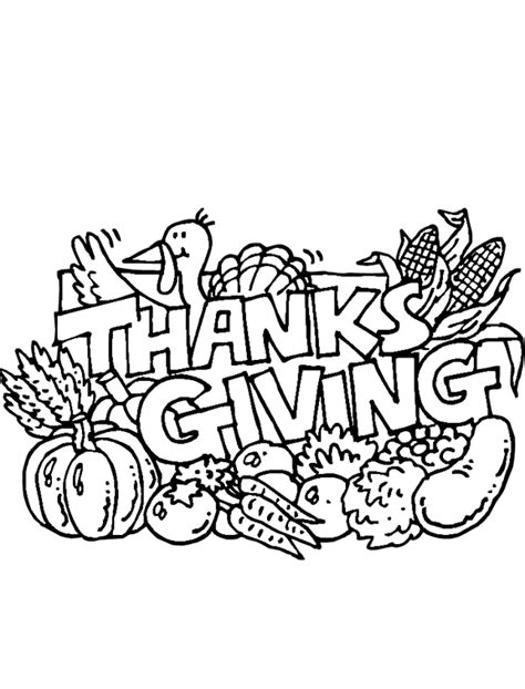 thanksgiving feast coloring page purple kitty