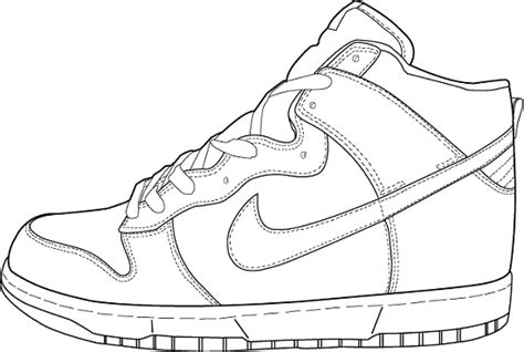 printable coloring pages nike shoes basketball shoes coloring pages getcoloringpages com