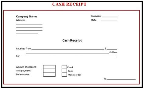 cheque receipt template word 6 free receipt templates excel pdf formats