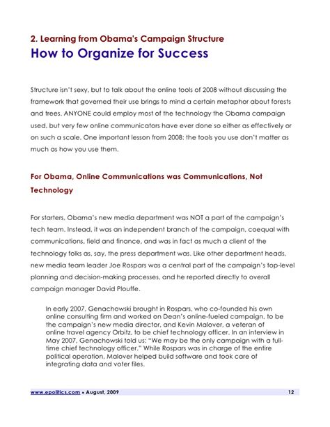 how to manage a successful election caign techies pk aprendendo com obama learning from obama