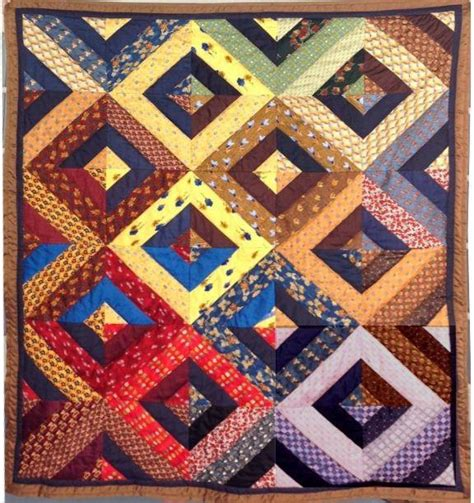 Tie Quilt Patterns by You To See Silk Tie Quilt By Terrychase
