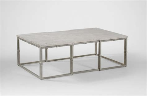 brushed silver table coffee table grey wood rectangular brushed silver alden