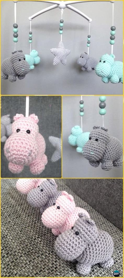 amigurumi crochet hippo toy softies  patterns