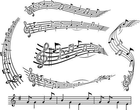 乐谱矢量图 办公学习 三联