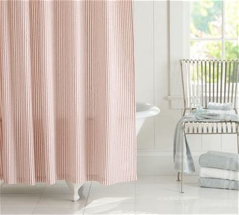 red ticking curtains vintage ticking stripe shower curtain red traditional