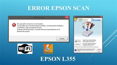 reset epson l355 programa error al escanear en red impresora epson l355 youtube