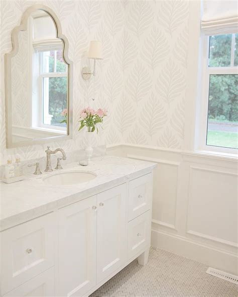 wallpaper ideas for bathrooms 25 best bathroom wallpaper ideas on half