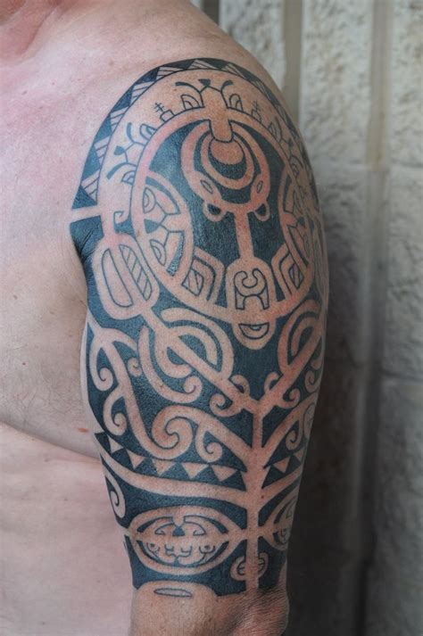maui tribal tattoos marquesan half sleeve by dave rodriguez pacific