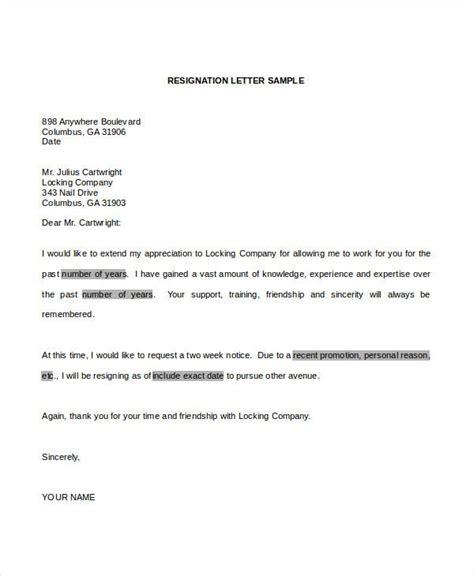 resignation letter word templates premium