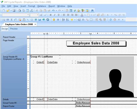 crystal reports underlay following sections crystal reports skillforge