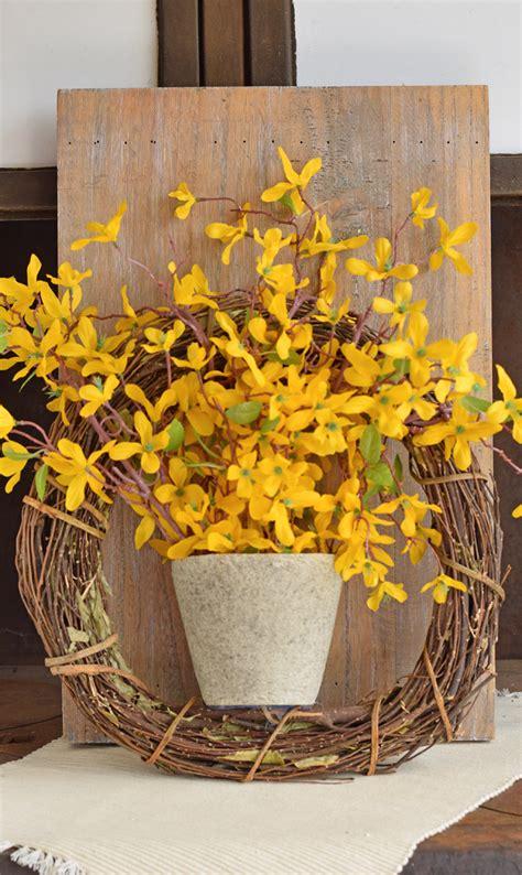 forsythia wreath tutorial forsythia wreath wreaths and easy spring forsythia wreath