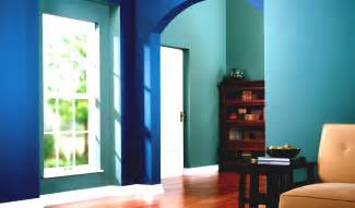 Fabulous blue and cyan house interior painting inspiration features