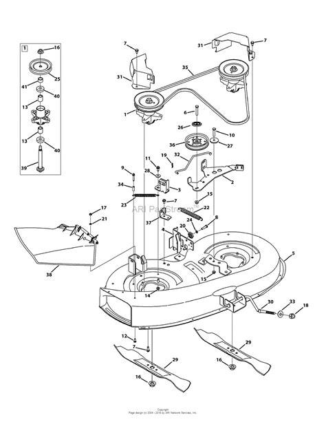 cub cadet mower deck parts diagram mtd 13a276lf031 lt3800 2013 parts diagram for mower deck