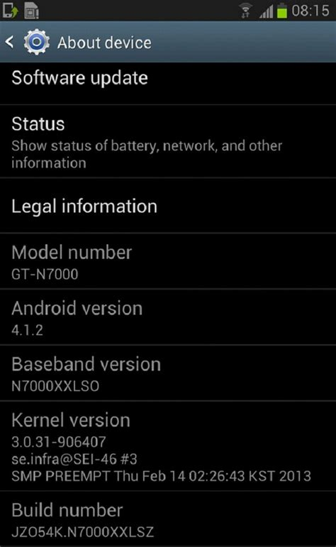 firmware updater android galaxy note n7000 receives official android 4 1 2 xxlsz jelly bean firmware how to install