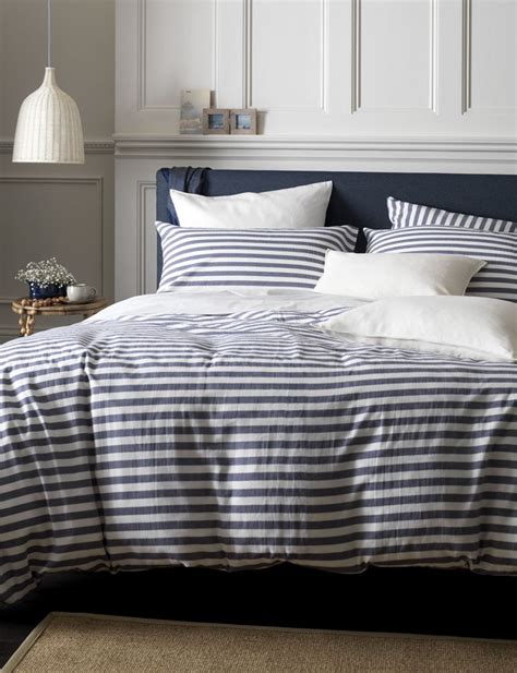 And White Striped Comforter by Nautical Navy Stripe Bedding Buy At Secret Linen