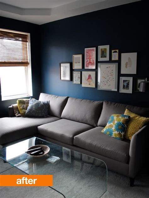 deep blue tv room  images navy