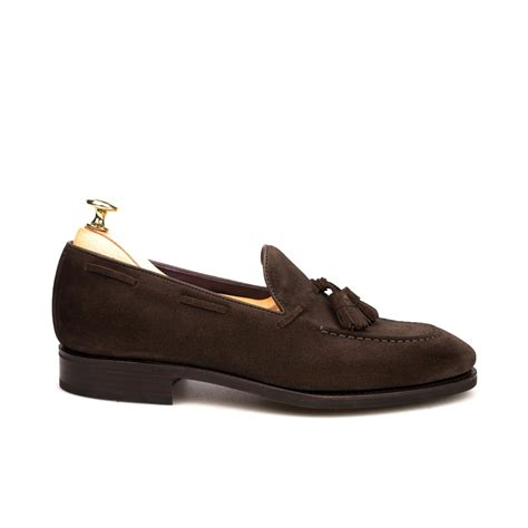 suede tassel loafers tassel loafers in brown suede carmina
