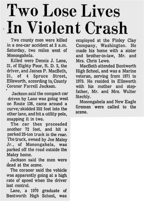 obituary section james p macbeth obituary