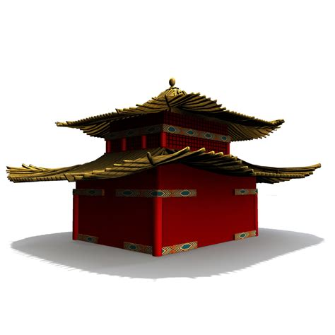 ming house ming dynasty house 3d model obj fbx ma mb dae