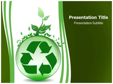 recycling powerpoint global environmental recycling powerpoint templates and