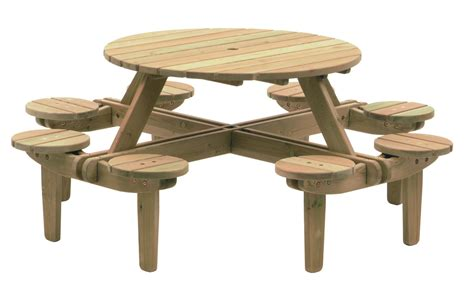picnic table pine gleneagles 8 seater picnic table 1 1m garden world