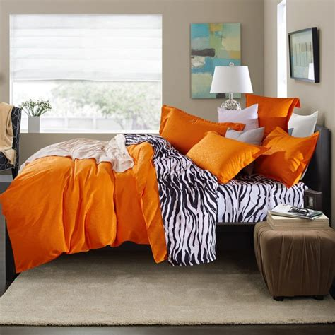 orange full size comforter 4pcs full size designer bedding cheap comforter sets high