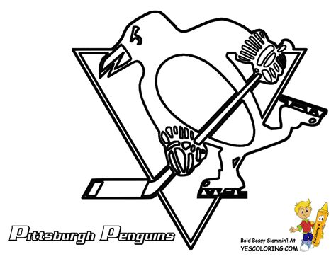 hockey coloring pages of sidney crosby pittsburgh penguins hockey coloring page all the nhl