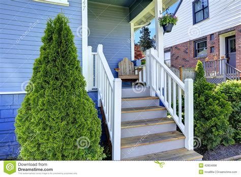 what does a blue porch light house exterior in light blue view of entrance porch stock