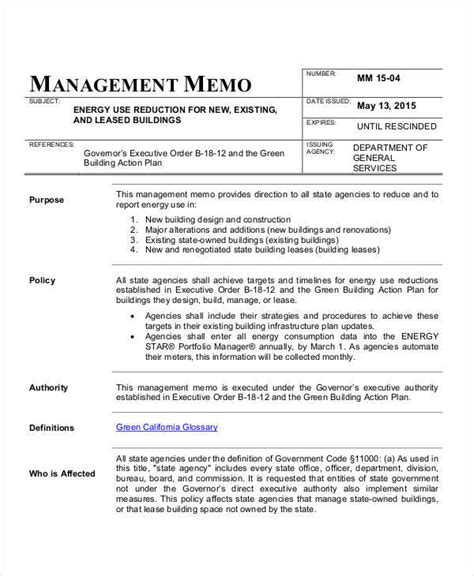 sle executive memo template executive memo template 28 images sle executive memo 7